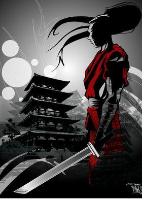 """A Samurai's Lament"" Illustration on paper"
