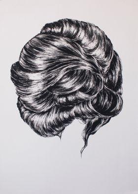 """Unquietness"" Silkscreen print. 2012."