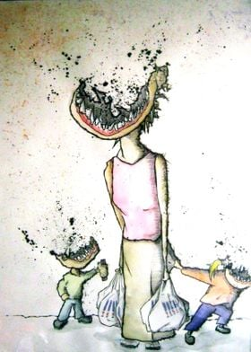 anti-tesco illustration