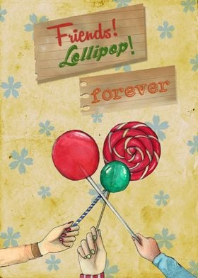 Mixed Medium- Fun time, lollipop brings us the old days ...