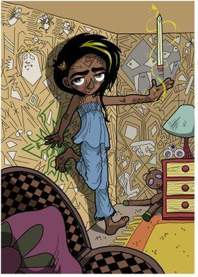 Concept art for children's animation, 'Rune Wall'