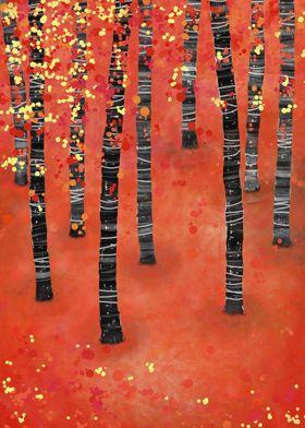 Birches Autumn Landscape
