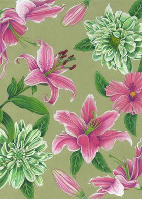 Floral illustration by Alyssa Bermudez