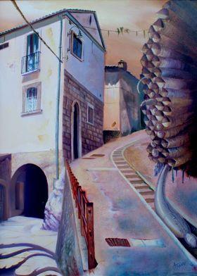 "Alessandro Fantini - ""Mulungu"", oil on canvas, 50x70, 2 ..."