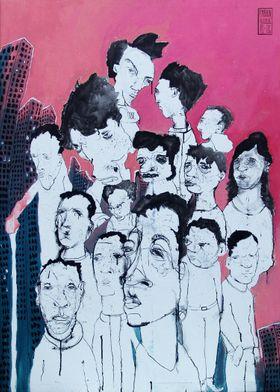 Everyones fault but mine. Painting by Fabian Delaflor.