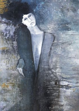 woman. oil on canwas