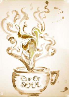 Cup Of Soul - Analog-ital Painting by ChiTreeSign, pain ...