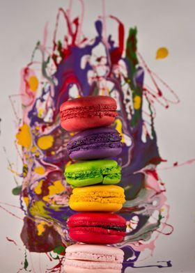 Splash of color with macarons