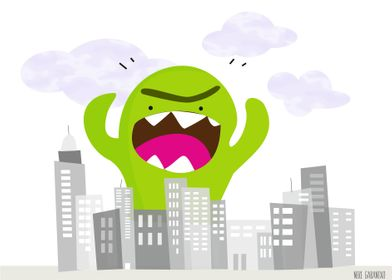 Angry monster comes to the city!