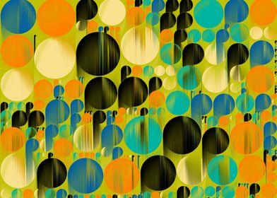 geometrical pattern behind the rain