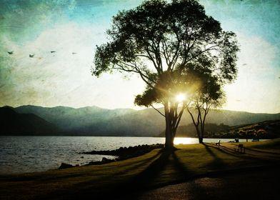 sunset on Lake Chelan