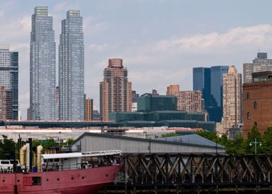 A section of the Manhattan city skyline