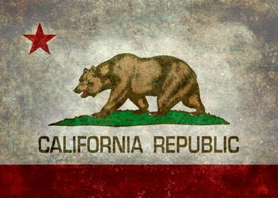 The Bear Flag is the official flag of the state of Cali ...
