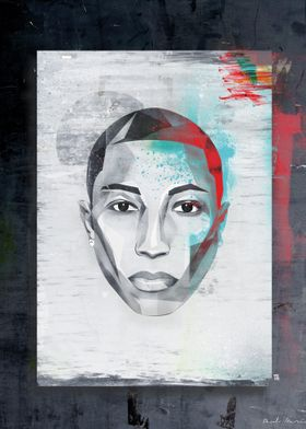 Pharell face graphic