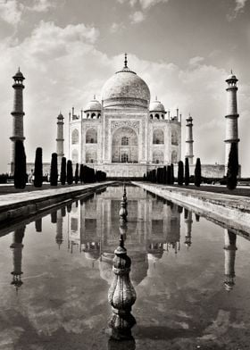 Reflections at the Taj Mahal
