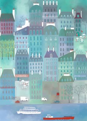 Paris Blues Painting