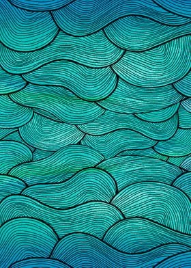 """""""Sea Waves"""" pattern illustration inspired by nature."""