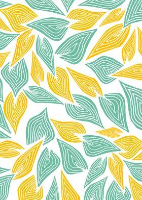 """""""Autumn Day"""" nature pattern illustration"""