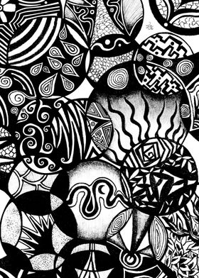 """Circles and Life"" abstract nature illustration pattern ..."
