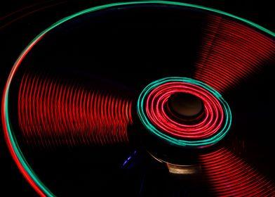 Fairground ride spinning on bonfire night