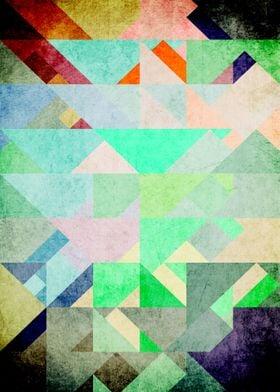 Retro Triangle Turquoise