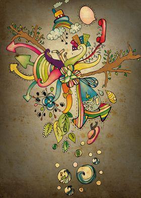 Strange World Doodle
