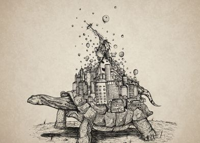 "Title: ""Tortoise Town"" He's content with a world on his ..."