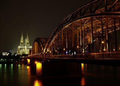 Cologne Cathedral by night. cologne, cologne cathedral, ...