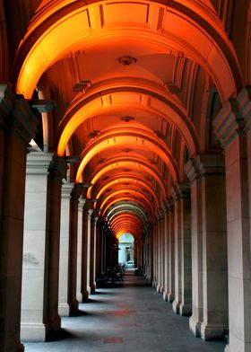 The arched foyers of the Melbourne GPO