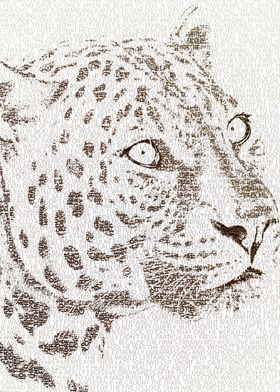 The intellectual leopard - typography art