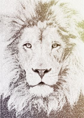The Intellectual Lion - typography art