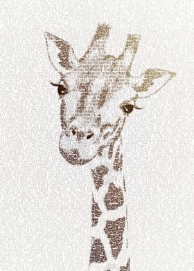The Intellectual Giraffe - typography art