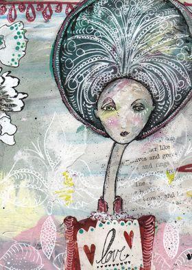 Detailed illustration - titled LOVE