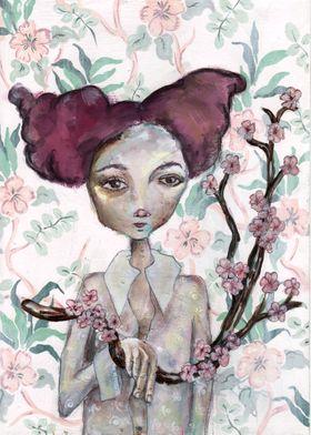 Decorative romantic art, entitled 'A Blossoming'