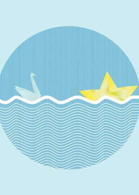 Origami and sea