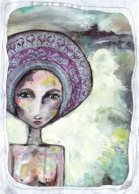 She Came from Over Beyond painting by siobhan jordan