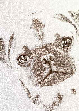 The Intellectual Pug - Typography Art