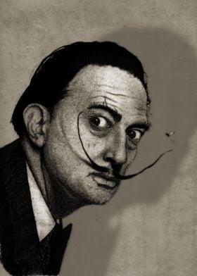 Salvador Dalí Portrait.