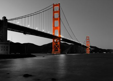 My favorite san francisco icon in selective black and w ...