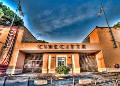 Rome, the eternal city. In front of the Cinecittà Studi ...