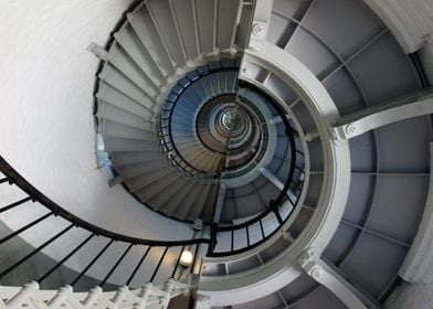 The interior of the Ponce Inlet Lighthouse in Florida