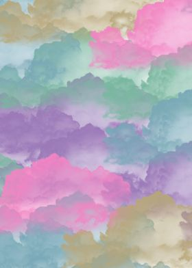 Mystical sky of pastel clouds