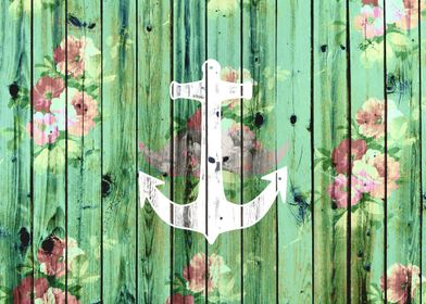 vintage and rustic design featuring a white nautical an ...
