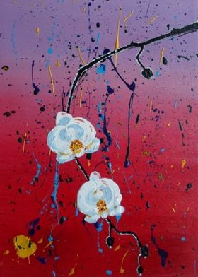 Orchids in Japanese Style. Acrylic on canvas. I create ...