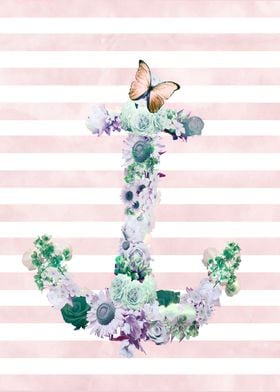 nautical floral anchor is inspired in nature and sea, t ...