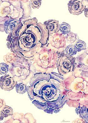 Pink peonies watercolor illustration by original flower ...