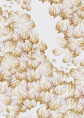 Wings in gold - butterfly watercolor illustration by or ...