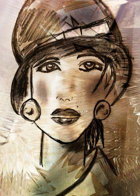 Painting woman CB