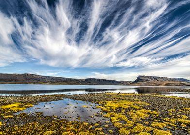 Incredible skies over Hvalfjörður, Vesterland, Iceland. ...
