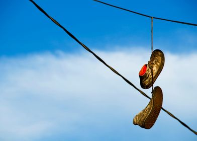 """""""Shoefiti"""" is the slang term used for the practice of s ..."""